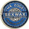 Sex Wax Quick Humps Blue 6X Extra Hard Tropical Water Surf Wax