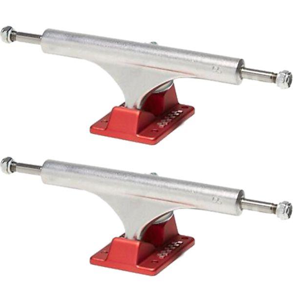 "Ace Trucks 55 Classic High Polished / Red Skateboard Trucks - 6.375"" Hanger 9.0"" Axle (Set of 2)"