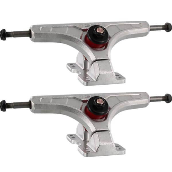 "Arsenal Trucks 165mm Cast 44 Degree Silver Skateboard Reverse Kingpin Trucks - 6.5"" Hanger 9.25"" Axle (Set of 2)"