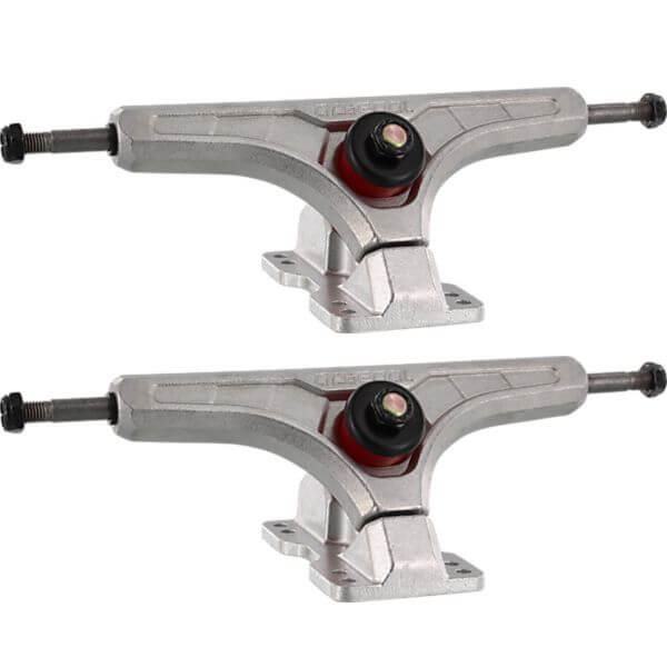 "Arsenal Trucks 180mm Cast 50 Degree Silver Skateboard Reverse Kingpin Trucks - 7.0"" Hanger 9.75"" Axle (Set of 2)"