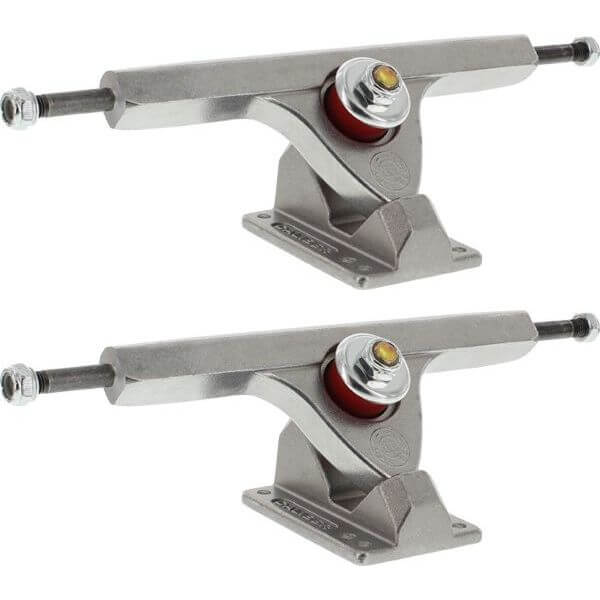 "Caliber Trucks II Forty-Four Raw Skateboard Reverse Kingpin Trucks 44 Degree Baseplate - 7.25"" Hanger 10.0"" Axle (Set of 2)"