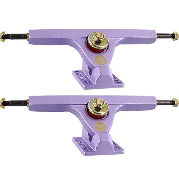 """Caliber Trucks 10"""" II Forty-Four Caliber Satin Lavender Skateboard Reverse Kingpin Trucks 44 Degree Baseplate - 7.25"""" Hanger 10.0"""" Axle (Set of 2)"""