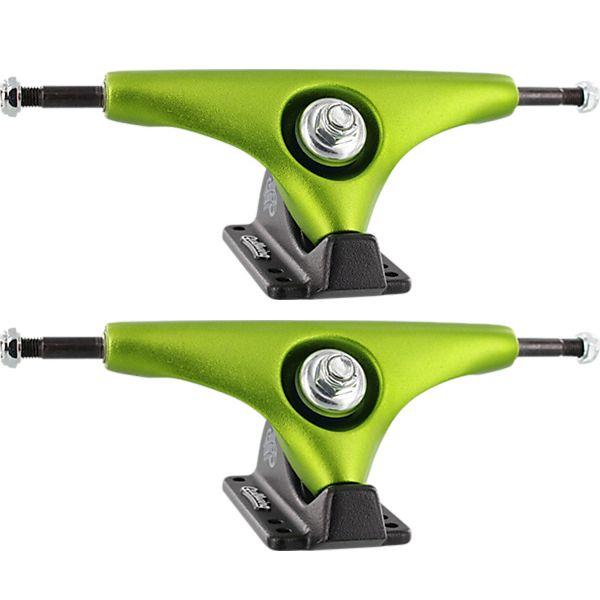 "Gullwing Trucks 9.0"" Charger Lime / Black Skateboard Reverse Kingpin Trucks - 6.25"" Hanger 9.0"" Axle (Set of 2)"
