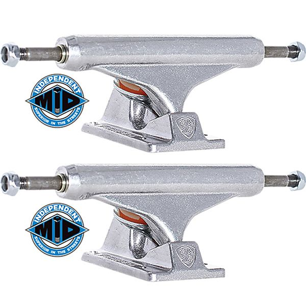 "Independent Stage 11 - 129mm Mid Silver Skateboard Trucks - 5.0"" Hanger 7.6"" Axle (Set of 2)"