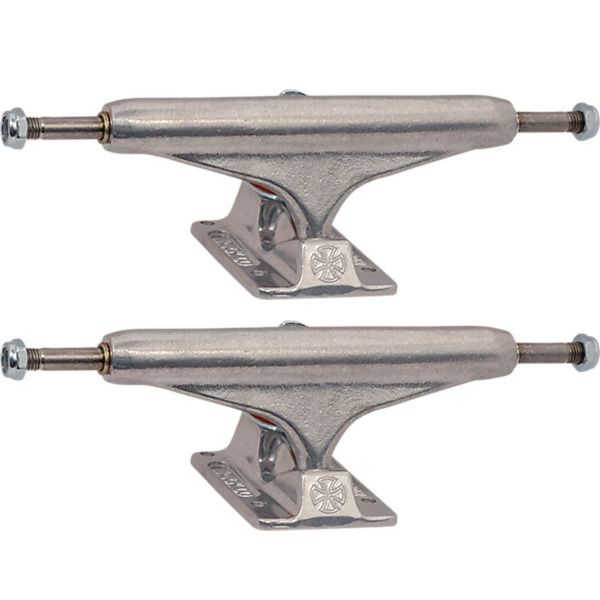 "Independent Stage 11 - 139mm Hollow Standard Silver Skateboard Trucks - 5.39"" Hanger 8.0"" Axle (Set of 2)"
