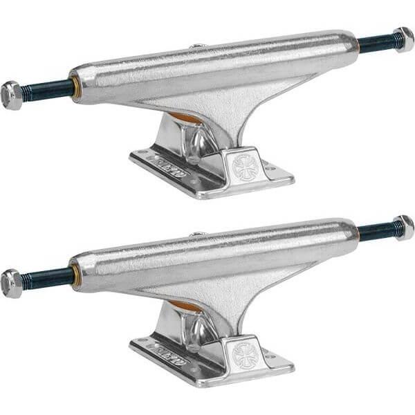 "Independent Stage 11 - 139mm Forged Titanium Standard Silver Skateboard Trucks - 5.39"" Hanger 8.0"" Axle (Set of 2)"