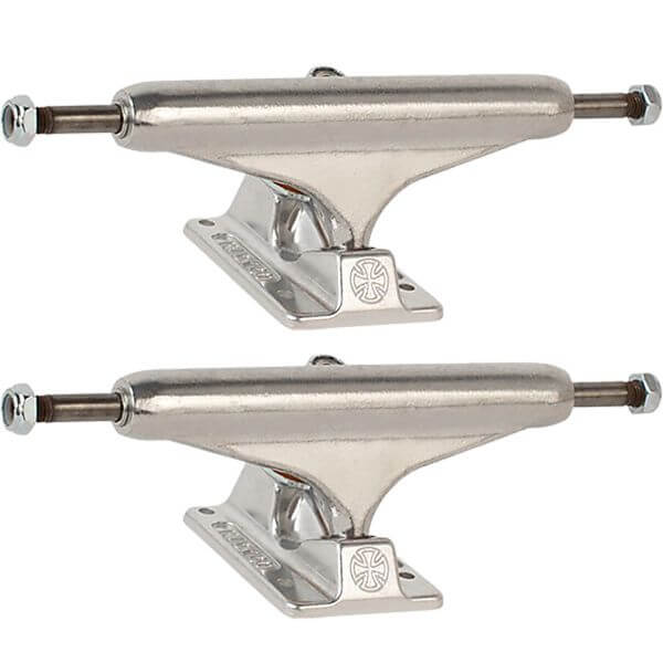 """Independent Stage 11 - 144mm Forged Hollow Standard Silver Skateboard Trucks - 5.67"""" Hanger 8.25"""" Axle (Set of 2)"""