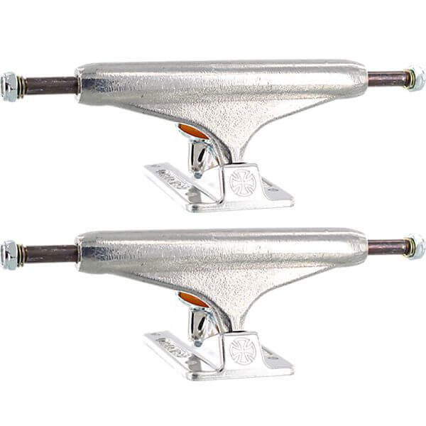 "Independent 144mm Forged Titanium Standard Polished Skateboard Trucks - 5.67"" Hanger 8.25"" Axle (Set of 2)"