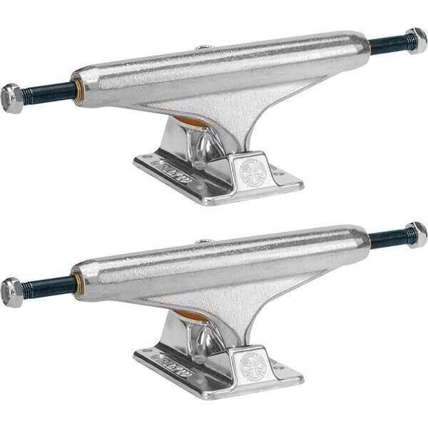 "Independent Stage 11 - 159mm Forged Titanium Standard Silver Skateboard Trucks - 6.14"" Hanger 8.75"" Axle (Set of 2)"