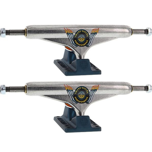 """Independent Grant Taylor Stage 11 - 149mm Hollow Standard Engine Silver / Ano Blue Skateboard Trucks - 5.87"""" Hanger 8.5"""" Axle (Set of 2)"""