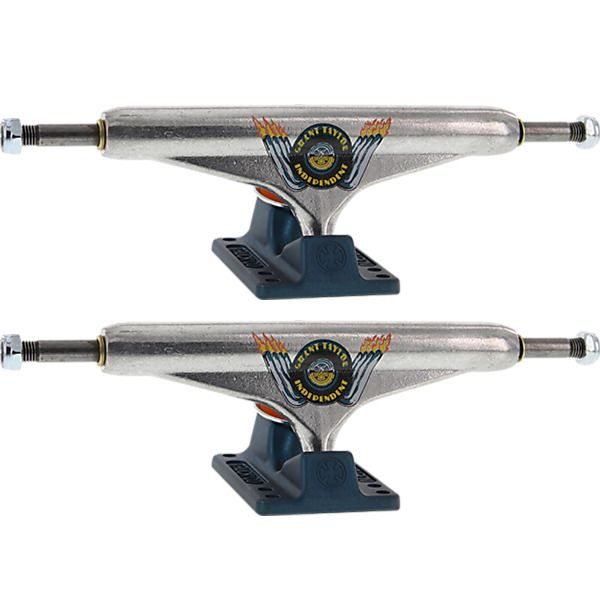 "Independent Grant Taylor Stage 11 - 159mm Hollow Standard Engine Silver / Ano Blue Skateboard Trucks - 6.14"" Hanger 8.75"" Axle (Set of 2)"