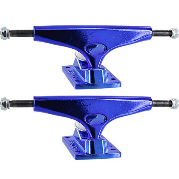 """Krux Trucks Standard Krome Dark Blue Skateboard Trucks - 5.625"""" Hanger 8.25"""" Axle (Set of 2)"""