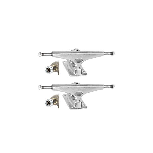 "Krux Trucks Standard DLK Hollow Polished Silver Skateboard Trucks - 5.8"" Hanger 8.5"" Axle (Set of 2)"