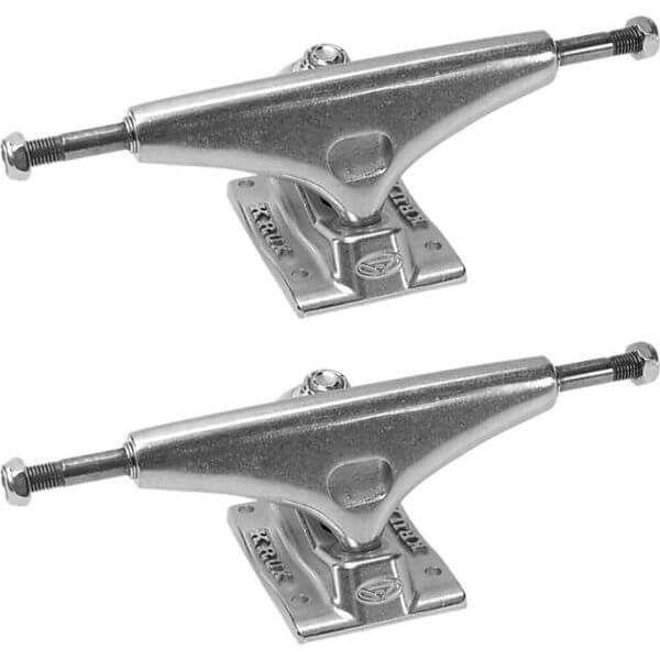 "Krux Trucks Standard Silver Polished Skateboard Trucks - 5.0"" Hanger 7.6"" Axle (Set of 2)"