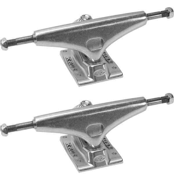 "Krux Trucks Standard Silver Polished Skateboard Trucks - 5.35"" Hanger 8.0"" Axle (Set of 2)"