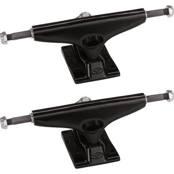 "Krux Trucks Standard Black / Black Skateboard Trucks - 5.35"" Hanger 8.0"" Axle (Set of 2)"