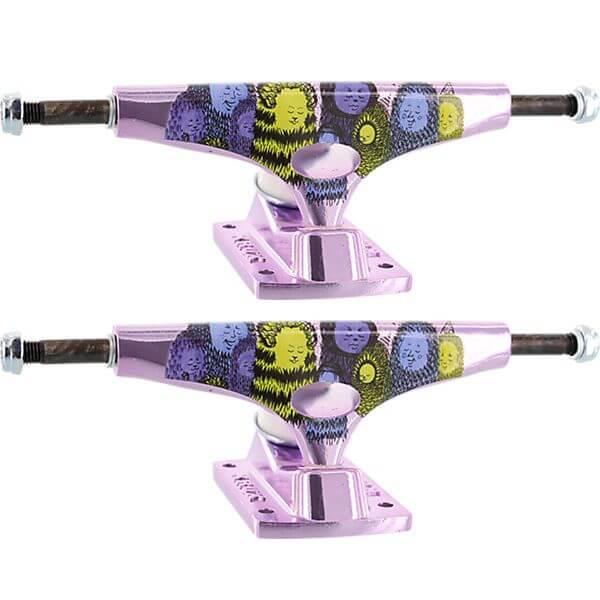 """Krux Trucks Nora Vasconcellos Pro Standard Krome Purple Skateboard Trucks - 5.0"""" Hanger 7.6"""" Axle (Set of 2)"""