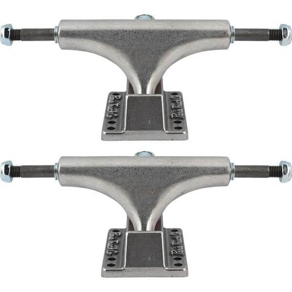 "Paris Truck Co. 108mm Street Raw / Raw Skateboard Trucks - 4.25"" Hanger 7.0"" Axle (Set of 2)"