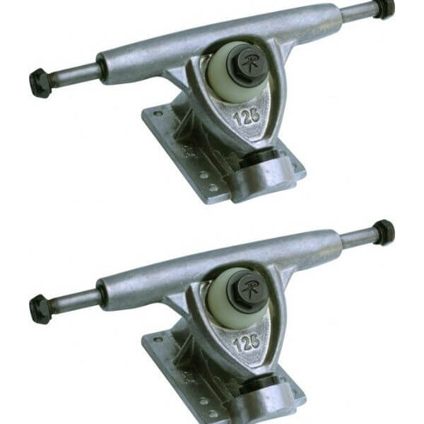 "Randal Trucks R II 125mm 42 Degree Polished Skateboard Reverse Kingpin Trucks - 5.0"" Hanger 7.6"" Axle (Set of 2)"