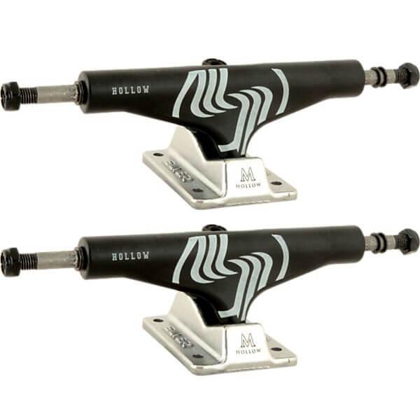 "Silver Trucks M-Class Hollow Black / Raw Skateboard Trucks - 5.5"" Hanger 8.25"" Axle (Set of 2)"