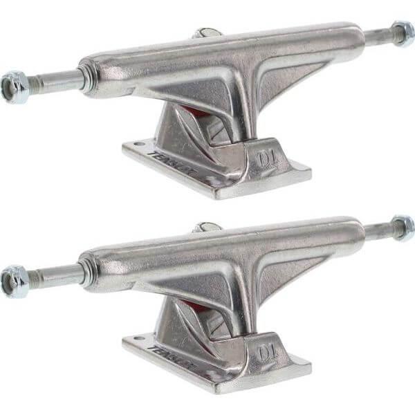 """Tensor Trucks Aluminum Polished Skateboard Trucks - 5.0"""" Hanger 7.75"""" Axle (Set of 2)"""