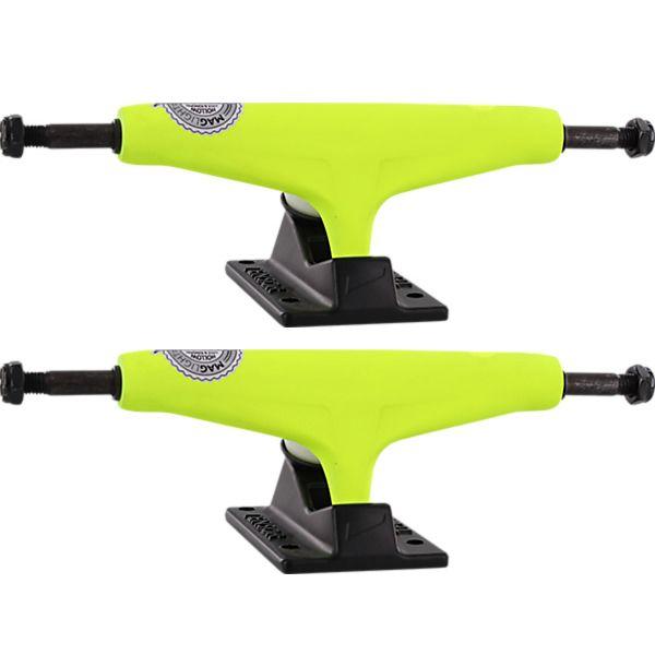 """Tensor Trucks Mag Light Neon Yellow / Black Skateboard Trucks - 5.5"""" Hanger 8.25"""" Axle (Set of 2)"""