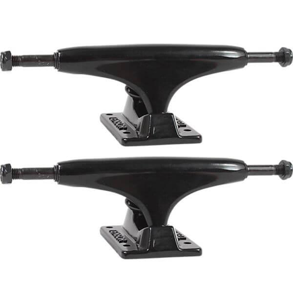 """Tensor Trucks Alloy Black Skateboard Trucks - 5.0"""" Hanger 7.75"""" Axle (Set of 2)"""