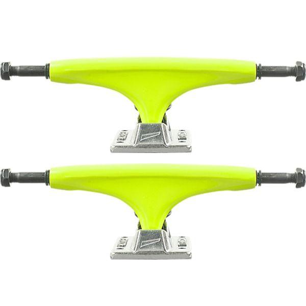 "Tensor Trucks Alloy Yellow / Raw Skateboard Trucks - 5.25"" Hanger 8.0"" Axle (Set of 2)"