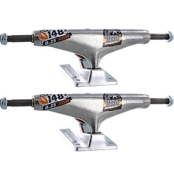 "Thunder Trucks 148mm Titanium Lights III High Polished Skateboard Trucks - 5.5"" Hanger 8.25"" Axle (Set of 2)"