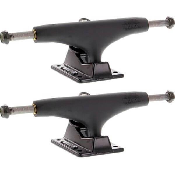 "Thunder Trucks 147mm Titanium Lights III Night Black Skateboard Trucks - 5.25"" Hanger 8.0"" Axle (Set of 2)"