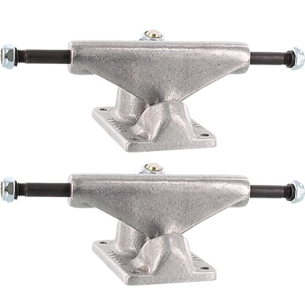 "Tracker Trucks 109mm Classic Fultrack Silver Skateboard Trucks - 4.25"" Hanger 7.0"" Axle (Set of 2)"