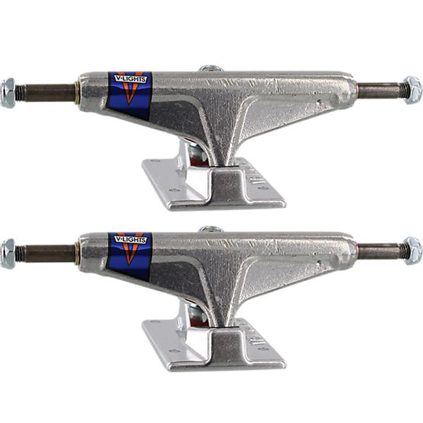 "Venture Trucks Polished V-Lights Low Silver Skateboard Trucks - 5.25"" Hanger 8.0"" Axle (Set of 2)"