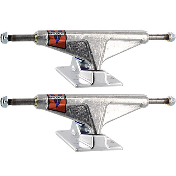 "Venture Trucks Polished V-Hollow High Silver Skateboard Trucks - 5.25"" Hanger 8.0"" Axle (Set of 2)"