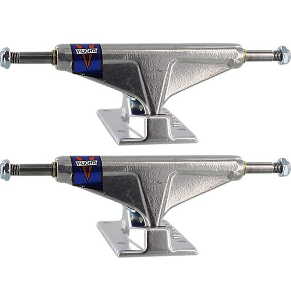 "Venture Trucks Polished V-Lights High Silver Skateboard Trucks - 5.25"" Hanger 8.0"" Axle (Set of 2)"