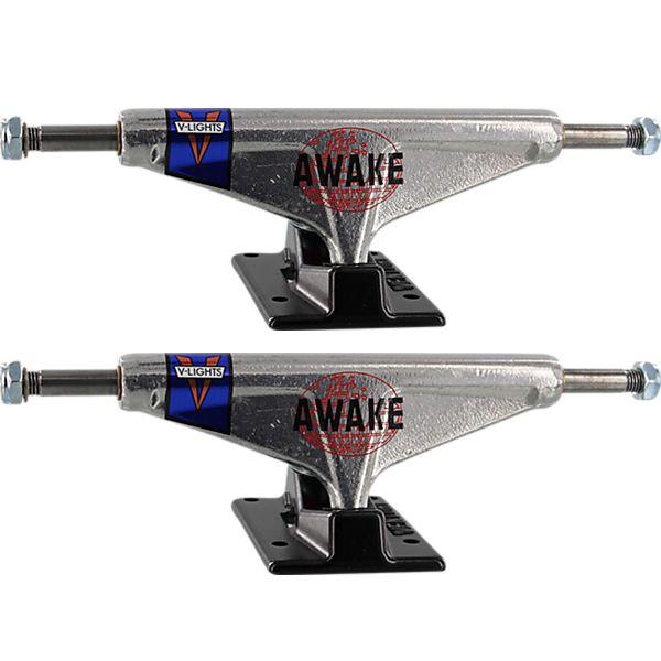 """Venture Trucks V-Lights Awake GTO High Silver / Black Skateboard Trucks - 5.25"""" Hanger 8.0"""" Axle (Set of 2)"""