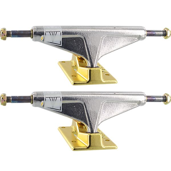 "Venture Trucks V-Titanium High Polished / Gold Skateboard Trucks - 5.25"" Hanger 8.0"" Axle (Set of 2)"