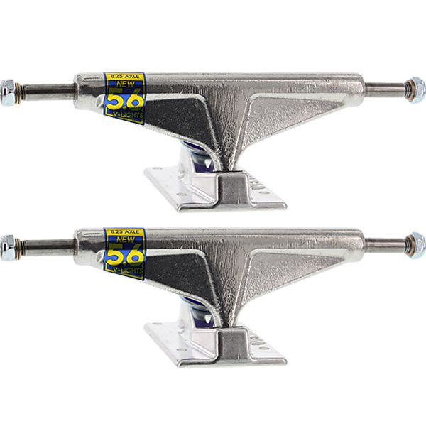 "Venture Trucks Polished V-Lights High Silver Skateboard Trucks - 5.6"" Hanger 8.25"" Axle (Set of 2)"
