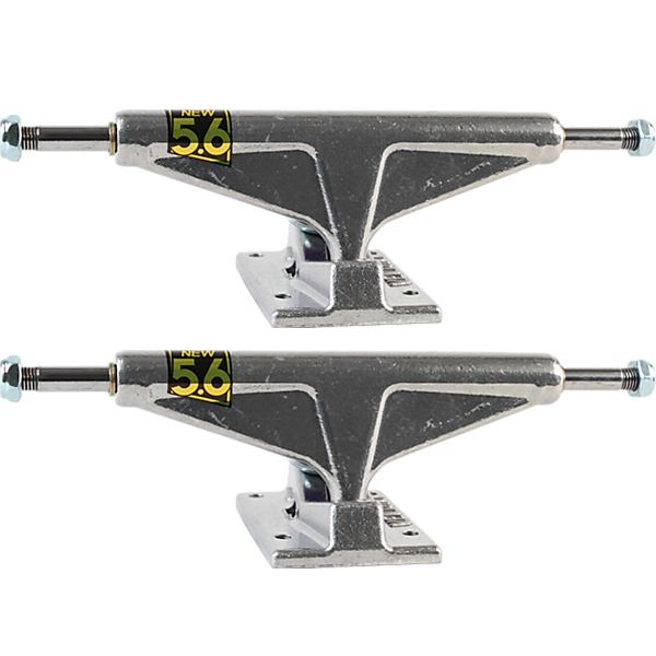 "Venture Trucks Polished High Silver Skateboard Trucks - 5.6"" Hanger 8.25"" Axle (Set of 2)"