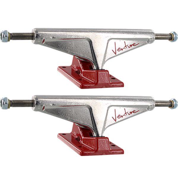 "Venture Trucks '92 Team High Polished / Red Skateboard Trucks - 5.8"" Hanger 8.5"" Axle (Set of 2)"