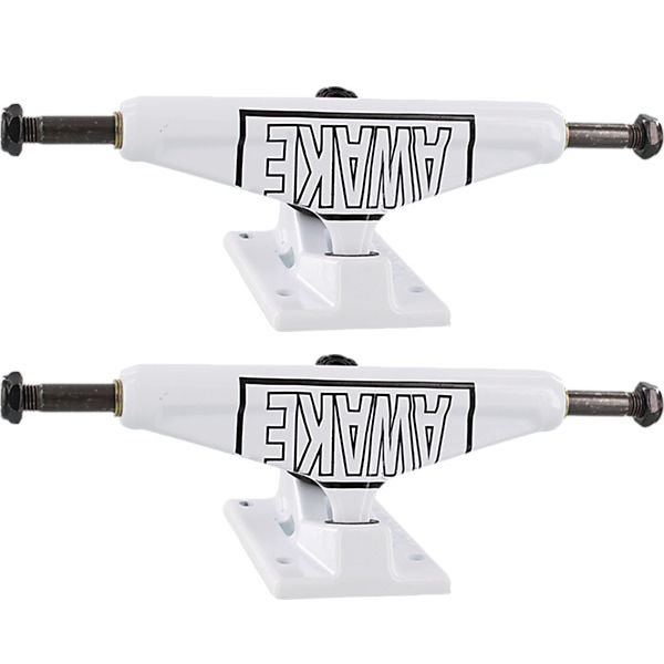 "Venture Trucks Motto Low White / Black Skateboard Trucks - 5.0"" Hanger 7.75"" Axle (Set of 2)"