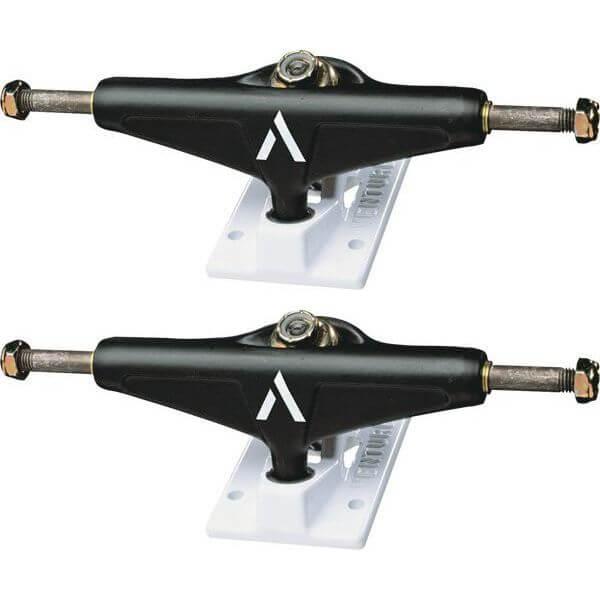 """Venture Trucks Team Salt & Pepper Low Black / White Skateboard Trucks - 5.0"""" Hanger 7.75"""" Axle (Set of 2)"""