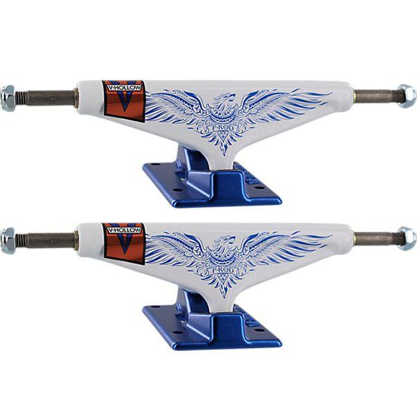 """Venture Trucks Paul Rodriguez P-Rod Feniks LTD Pro V-Hollows High White / Blue Skateboard Trucks - 5.8"""" Hanger 8.5"""" Axle (Set of 2)"""