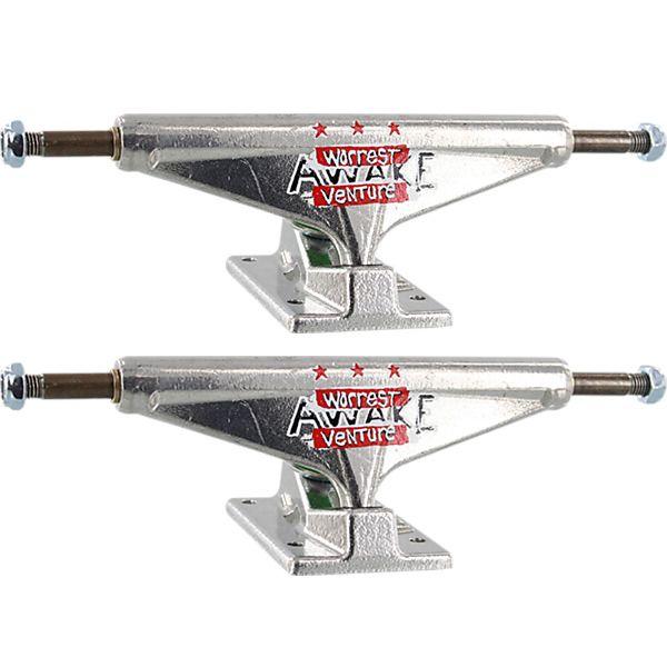 """Venture Trucks Bobby Worrest V-Lights Awake High Polished / Red Skateboard Trucks - 5.8"""" Hanger 8.5"""" Axle (Set of 2)"""