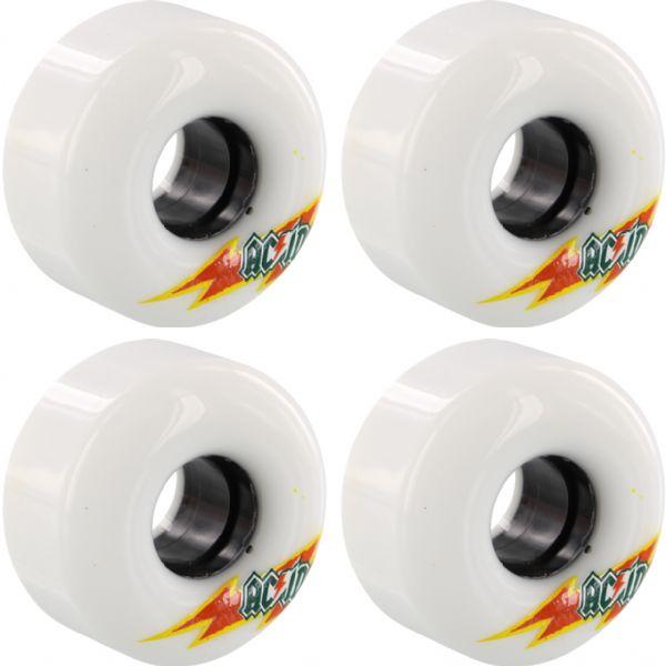 Acid Chemical Wheels Funner Skateraid White Skateboard Wheels - 56mm 86a (Set of 4)