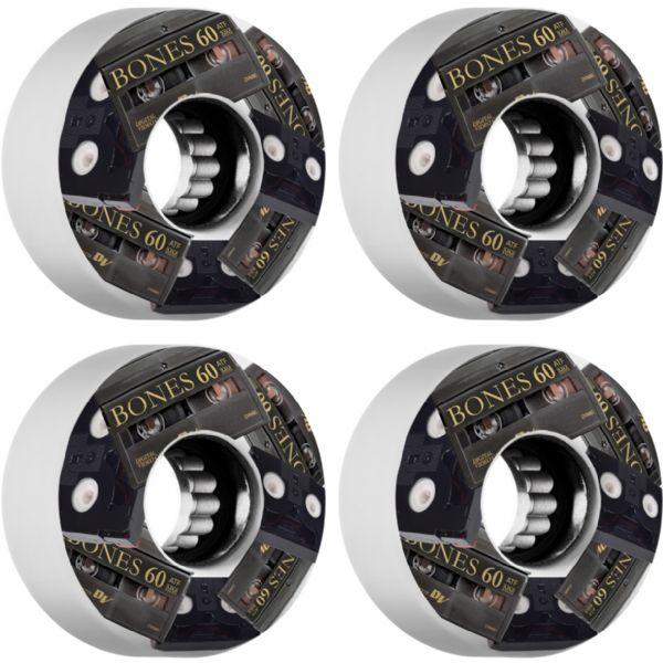 Bones Wheels ATF Mini DV's White Skateboard Wheels - 60mm 80a (Set of 4)