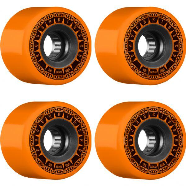 Bones Wheels ATF Rough Rider Tank Orange Skateboard Wheels - 59mm 80a (Set of 4)