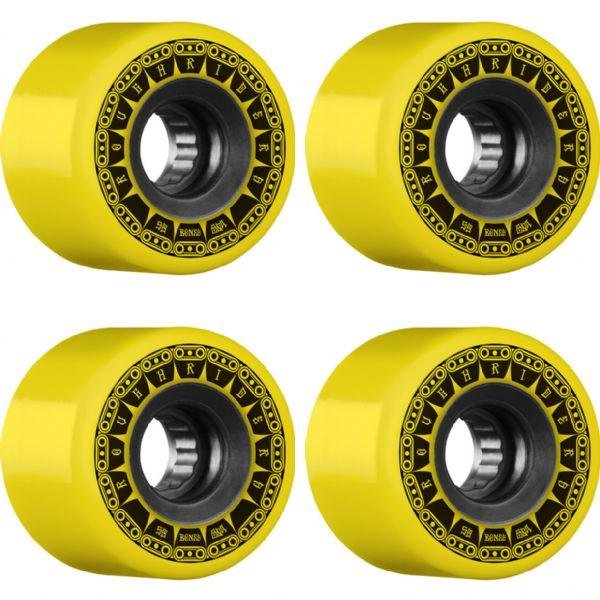 Bones Wheels ATF Rough Rider Tank Yellow Skateboard Wheels - 59mm 80a (Set of 4)