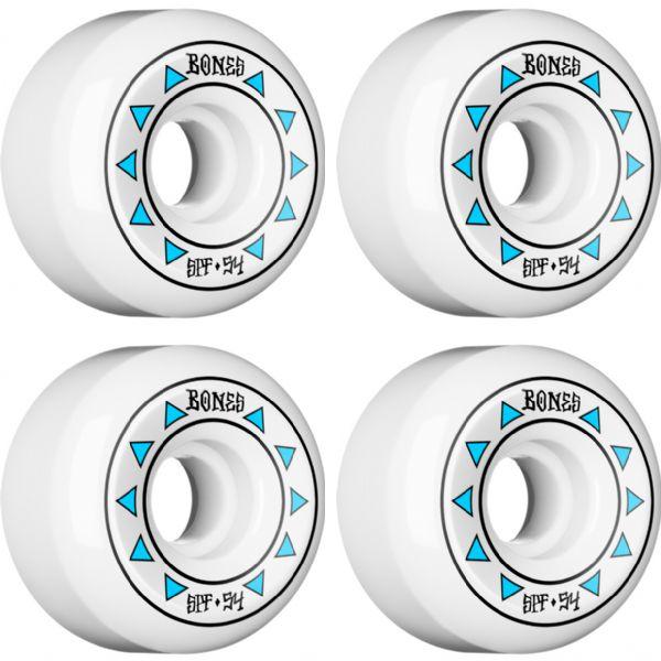 Bones Wheels SPF Arrows White / Blue Skateboard Wheels - 54mm 84b (Set of 4)
