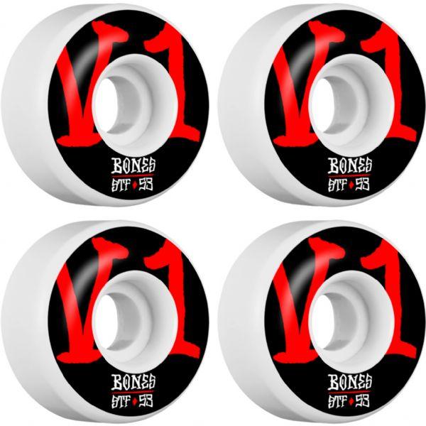 Bones Wheels STF V1 Annuals Bold White Skateboard Wheels - 53mm 103a (Set of 4)