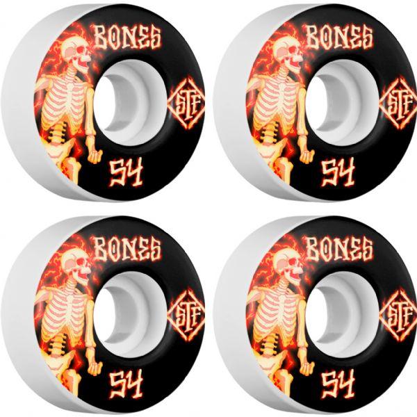 Bones Wheels STF V1 Blazers White Skateboard Wheels - 54mm 103a (Set of 4)